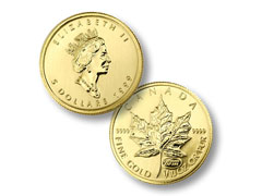 Canadian Maple Leaf Gold Bullion