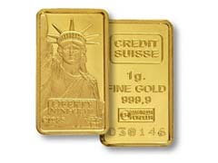 Credit Suisse Gold Bullion Bar