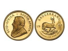 Krugerrand Gold Bullion Coins Mintage